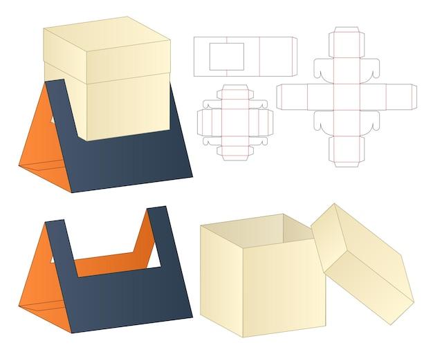 상자 포장 다이 컷 템플릿 디자인