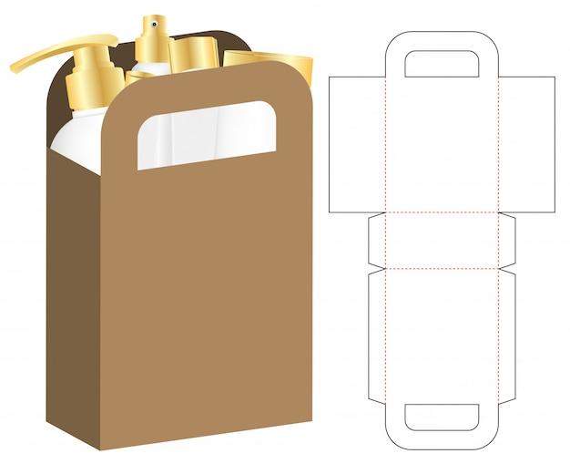 Box packaging die cut template for print