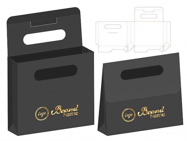 Box packaging die cut template