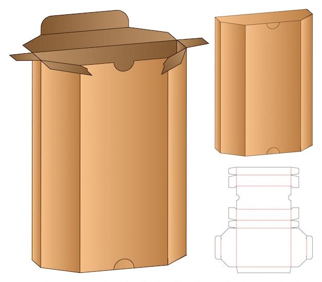 상자 포장 다이 컷 템플릿.