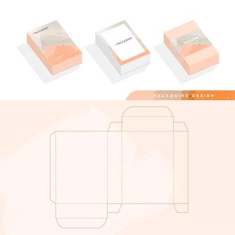 Коробка, шаблон упаковки и шаблон высечки для продукта, брендирование. векторная иллюстрация дизайна.