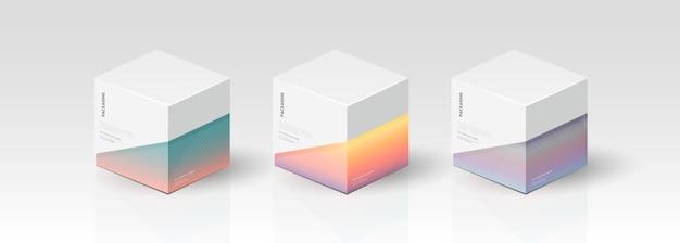 Коробка, шаблон упаковки для векторного дизайна продукта, векторные иллюстрации