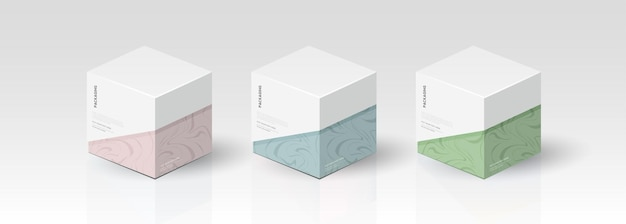 ボックス、製品ベクトルデザイン、ベクトルイラストのパッケージテンプレート