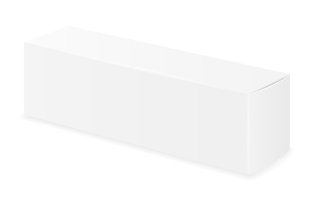 Box packaging of toothpaste empty template
