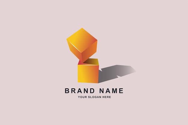 Квадратный квадратный логотип дизайн шаблона