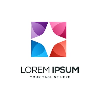 Дизайн логотипа звезды звезды