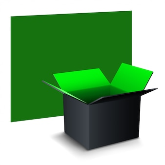 Box with banner
