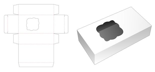 커브 창 다이 컷 템플릿이있는 상자