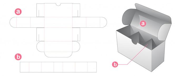 インサートディバイダーダイカットテンプレート付きボックス