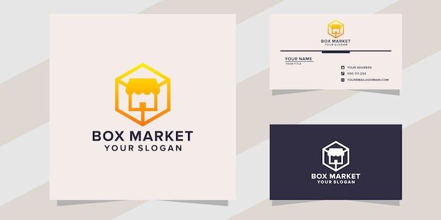 Box with market logo template