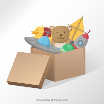 Box with toys