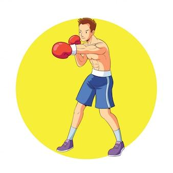 A boxer does a jap