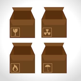 상자 판지 포장 배달 서비스