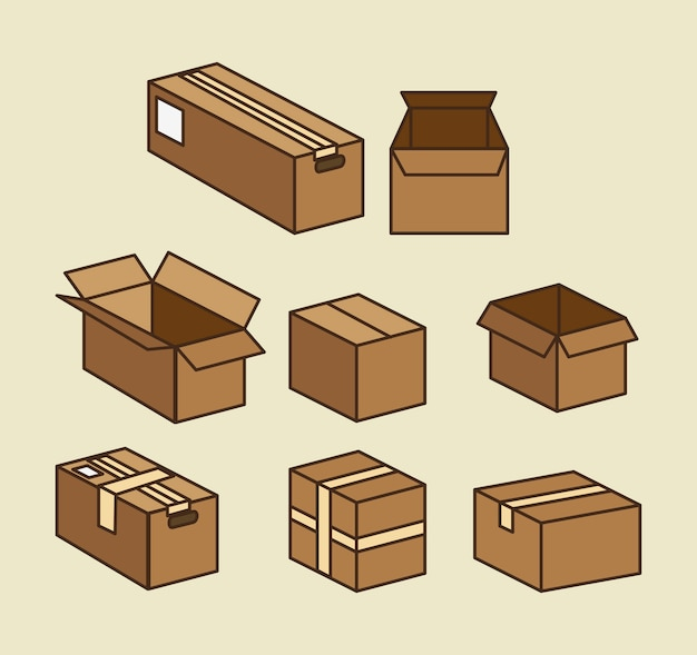 Boxes carton packing delivery service