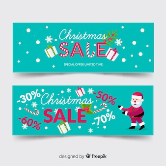 Boxes christmas sale banner