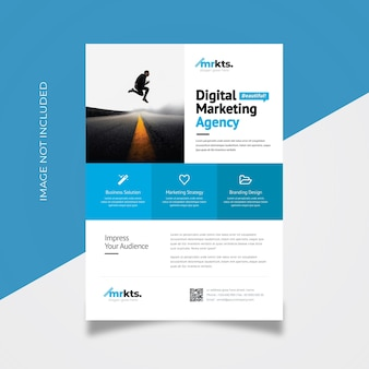 Boxes minimal business flyer