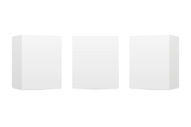 ボックスの分離の白い背景を模擬
