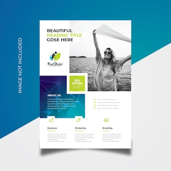 Boxes style business flyer