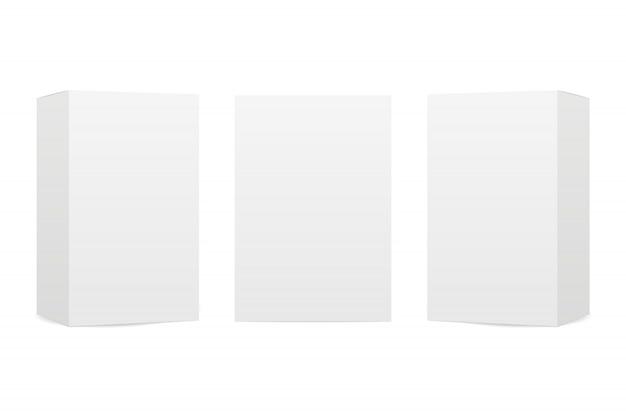 Boxes  on white background