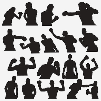 Boxing 2 silhouettes