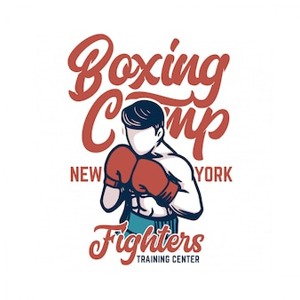Boxing camp poster