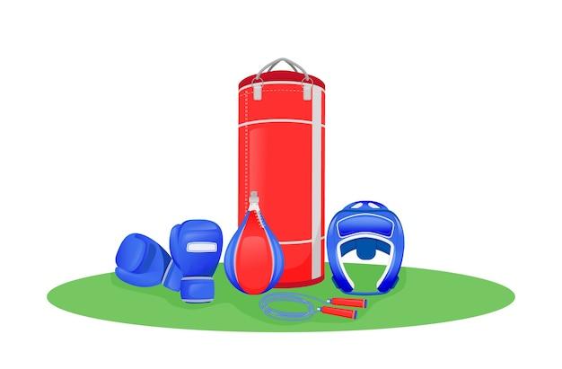 ボクシングセンターフラットコンセプトイラスト
