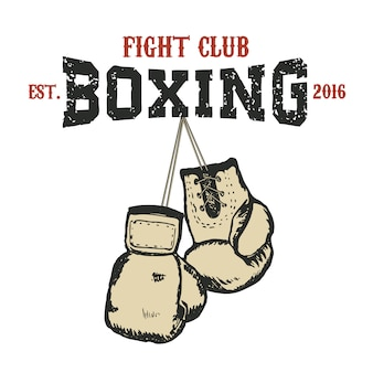 Boxing club emblem