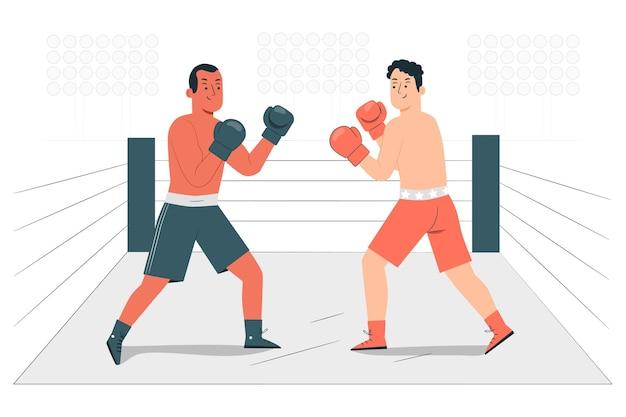 Illustrazione del concetto di boxe