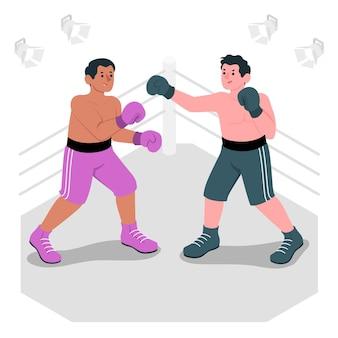 Иллюстрация концепции бокса