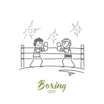 Boxing concept illustration