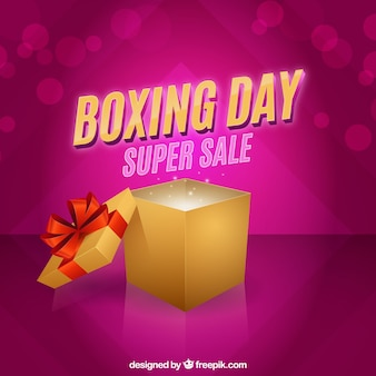 Boxing day background in pink