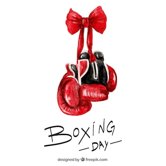 Boxing day background in watercolor style