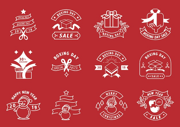 Boxing day badge design promotion