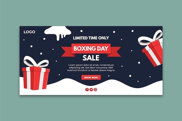 Boxing day banner