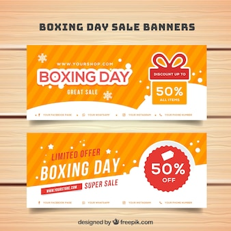 Boxing day banners