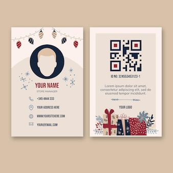 Boxing day business card template