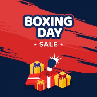 Boxing day concept.