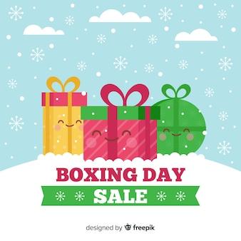 ボクシングの日かわいいプレゼントの販売の背景