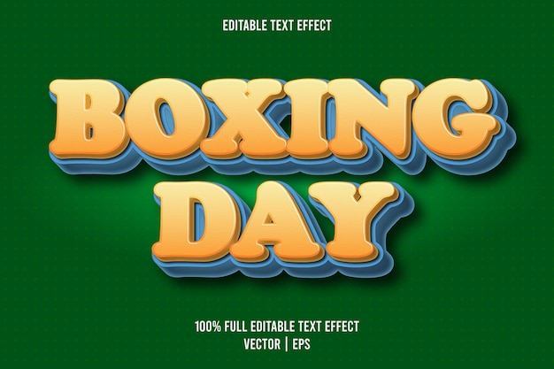 Boxing day editable text effect cartoon style