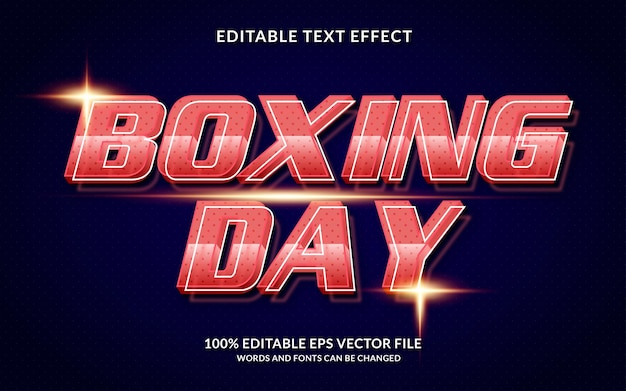 Boxing day editable text effect