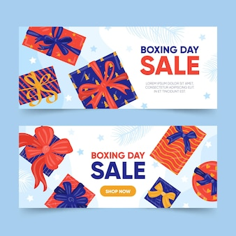 Boxing day event banners set