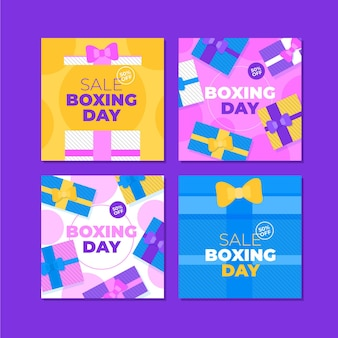 Boxing day event sale instagram posts collection
