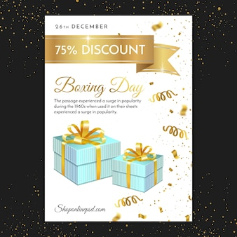 Boxing day flyer print template
