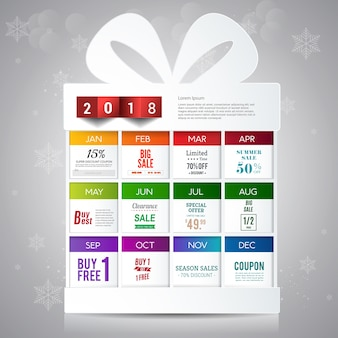 Boxing day Gift promotion banner design template.