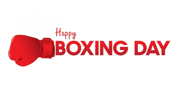Boxing day illustration.typography combined in a shape of boxing gloves