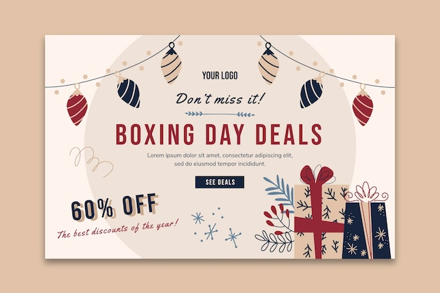 Boxing day landing page template