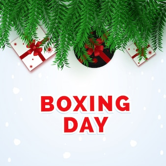 Boxing day poster.