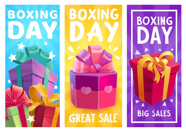 Boxing day  presents, great sale promo gifts