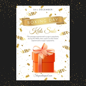 Boxing day print poster template