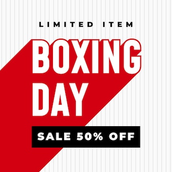 Boxing day sale 50% off banner